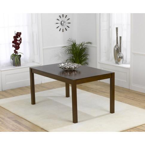 Marbella 150cm Solid Dark Oak Rectangular Dining Table