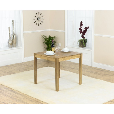Promo 80cm Solid Oak Square Dining Table