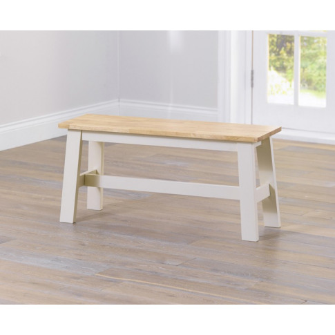 Chichester 120cm Painted Oak & Cream Wooden Large Bench