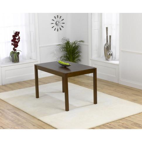 Marbella 120cm Solid Dark Oak Rectangular Dining Table