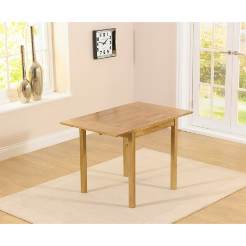 Promo 70cm Solid Oak Ext. Dining Table