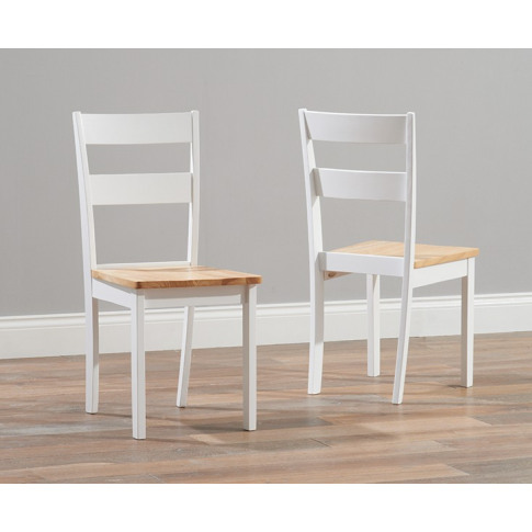 Chichester Painted Oak & White Wooden Dining Chair