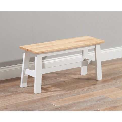 Chichester 120cm Painted Oak & White Wooden Large Bench