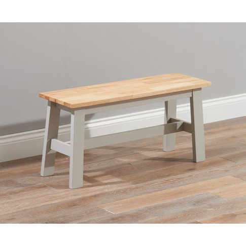Chichester 100cm Painted Oak & Grey Wooden Small Bench