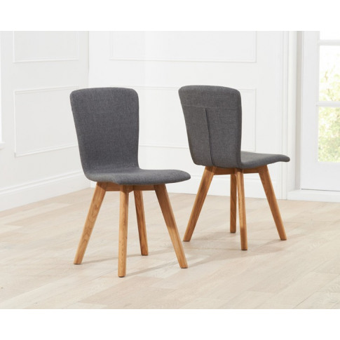 Tribeca Charcoal Grey Fabric Dining Chair