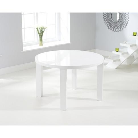 Ava 120cm High Gloss Round Dining Table