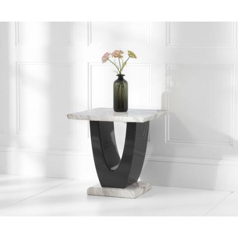 Rivilino Cream Marble Lamp Table
