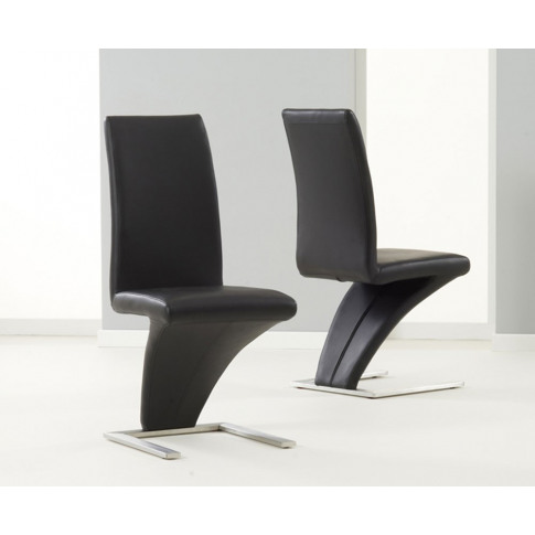 Hereford Black Pu Leather Dining Chair