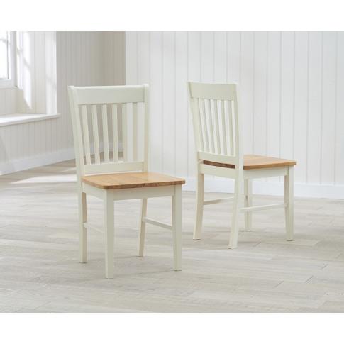 Alaska Cream And Oak Wooden Dining Chair