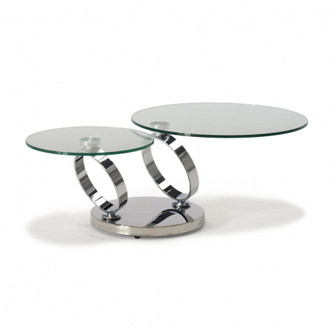 Rings Clear Glass Coffee Table