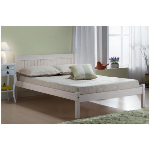 Birlea Rio 4ft6 Double White Wash Wooden Bed