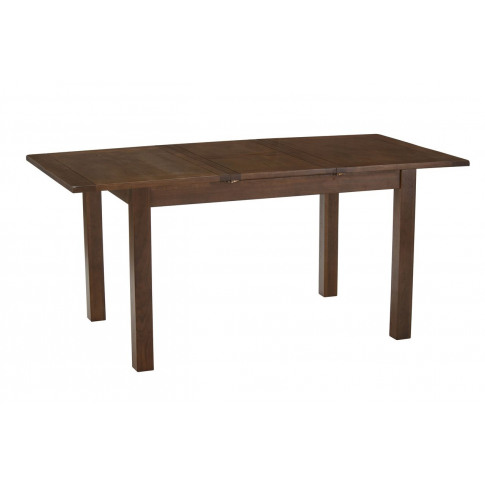 Riva 1.25m Ext. Dining Table With 4 Henley Brown Dark Leg Leather Chairs