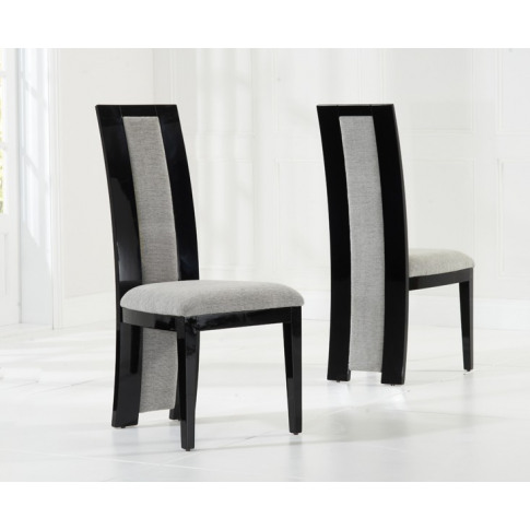 Rivilino Black Solid Wood And High Gloss Dining Chair
