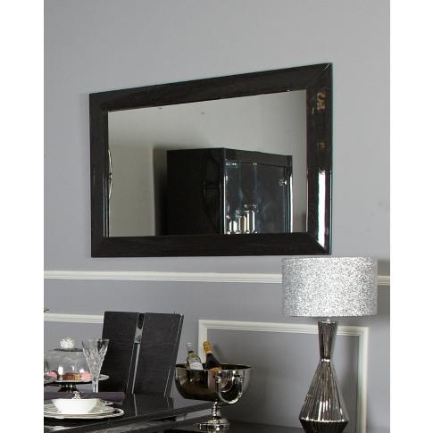Riya Dark Grey Walnut Wall Mirror