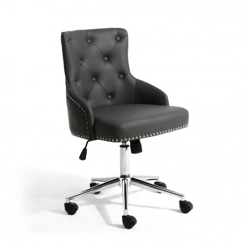 Rocco Leather Match Graphite Grey Office Chair