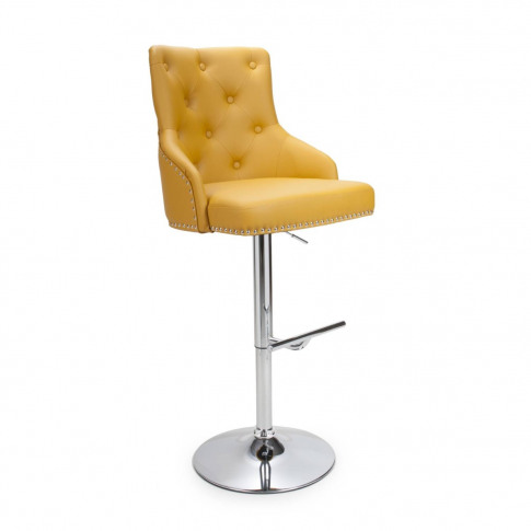 Rocco Leather Match Yellow Bar Stool