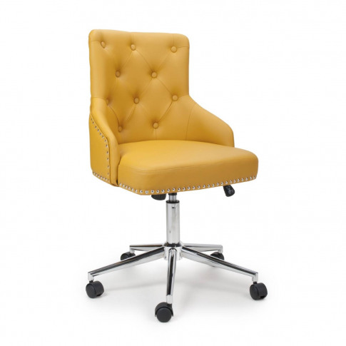 Rocco Leather Match Yellow Office Chair