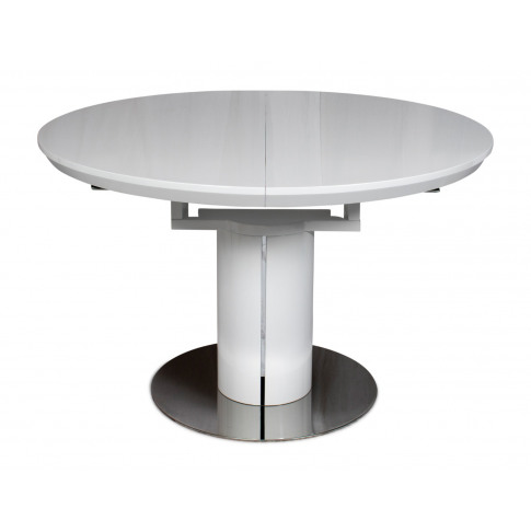 Fairmont Romeo High Gloss Round Ext Dining Table Whi...
