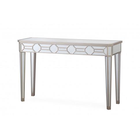 Rosa Silver Mirror Console Table