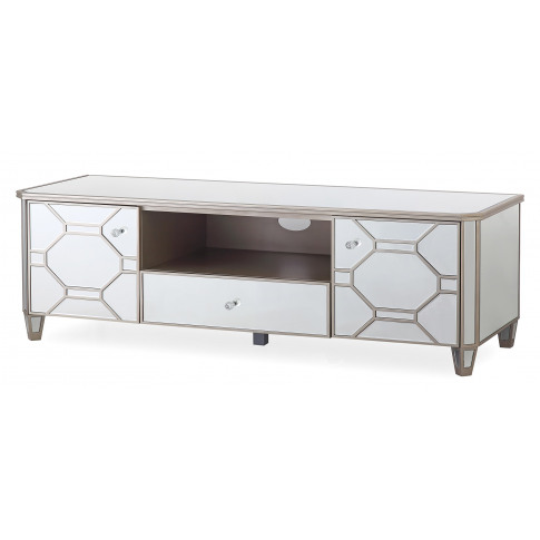 Rosa Silver Mirror Tv Cabinet