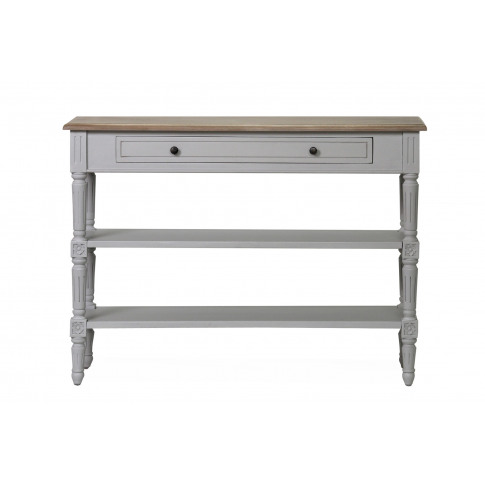 Rowan 1 Drawer Grey Wooden Console Table