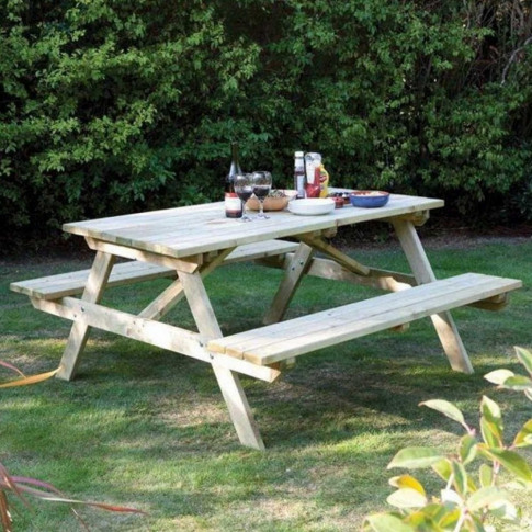 Rowlinson 5ft Wooden Picnic Bench