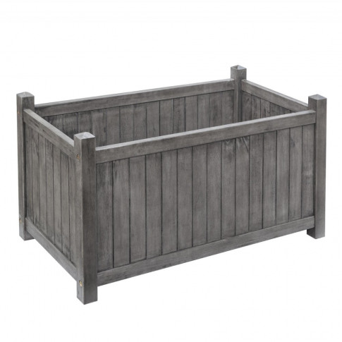 Rowlinson Alderley Grey Rectangular Planter