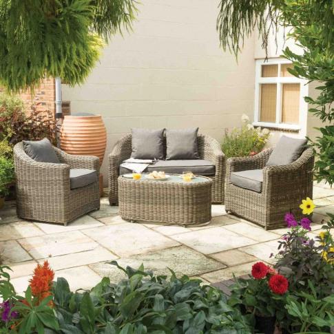 Rowlinson Bunbury Grey Weave Sofa Set