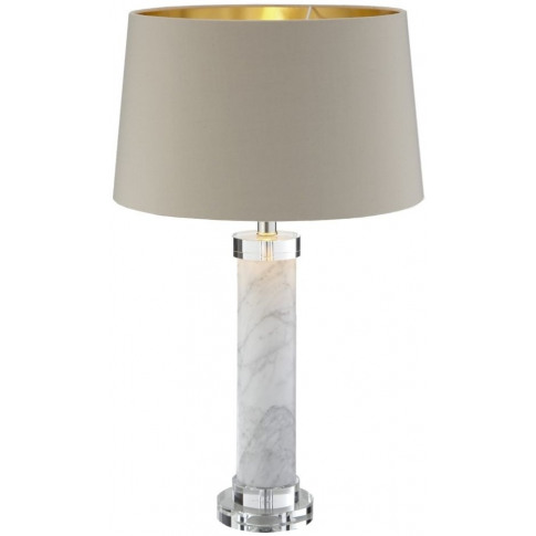 Rv Astley Beda White Marble Table Lamp