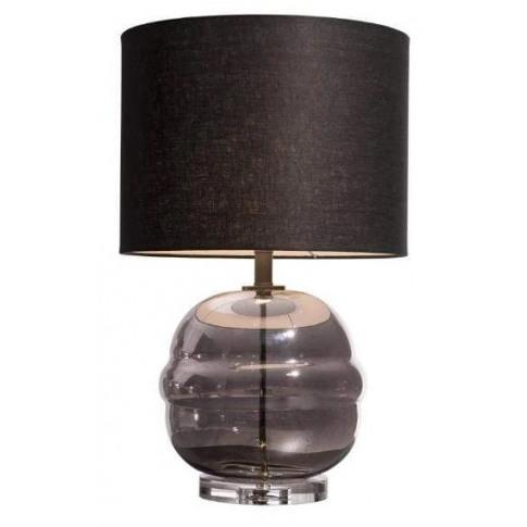 Rv Astley Bria Smoke Glass Table Lamp