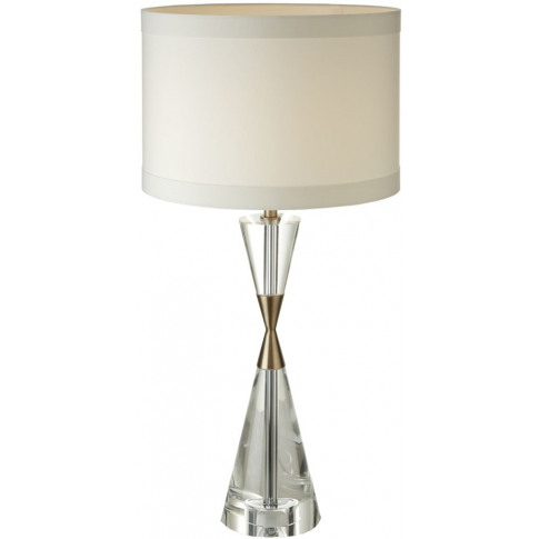 Rv Astley Cale Brass Crystal Table Lamp