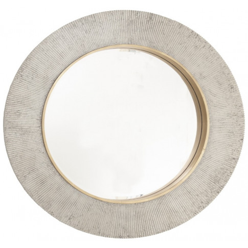 Rv Astley Edvin Champagne Silver Wall Mirror