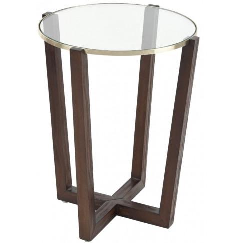 Rv Astley Freyr Glass Round Side Table