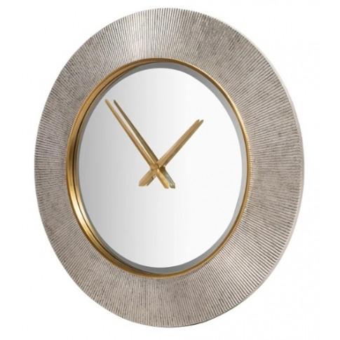 Rv Astley Galey Champagne Silver Wall Clock