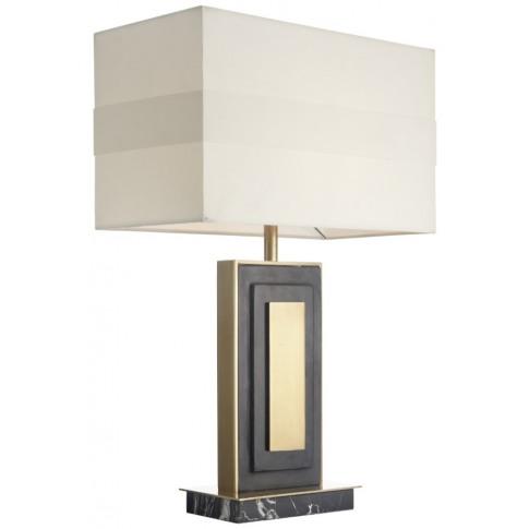 Rv Astley Halie Black Marble Table Lamp