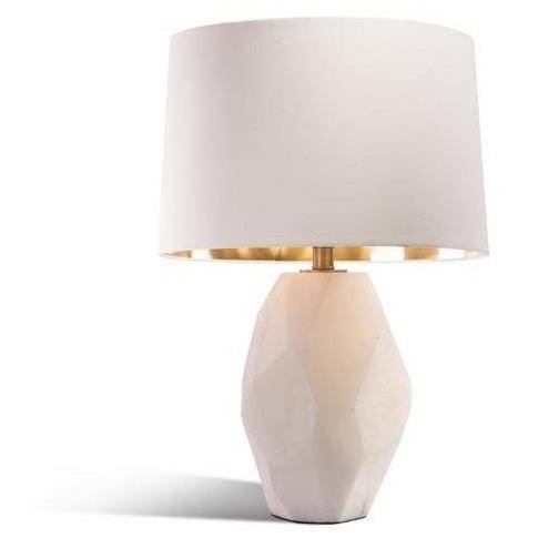 Rv Astley Kagan White Alabaster Table Lamp