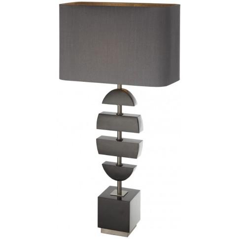 Rv Astley Kiana Black Marble Table Lamp