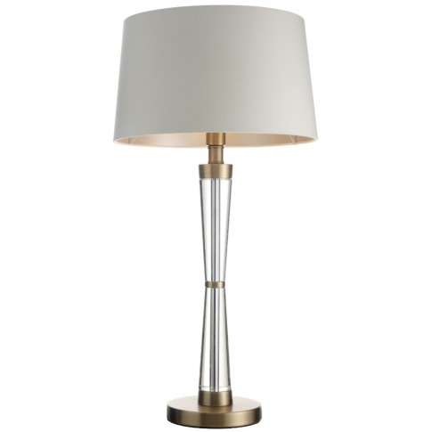 Rv Astley Nelle Crystal And Antique Brass Table Lamp