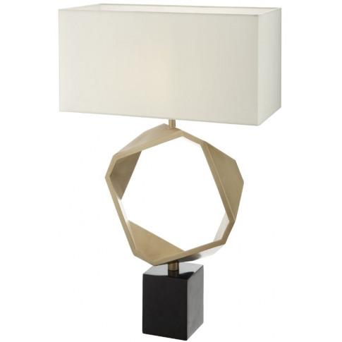 Rv Astley Riley Antique Brass Table Lamp