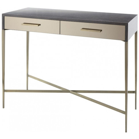 Rv Astley Tabley Dark Grey Wooden Console Table