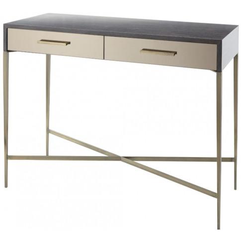 Rv Astley Tabley Dark Grey Wooden Console Table