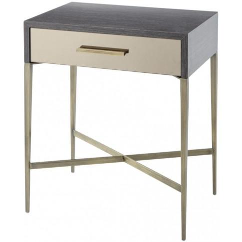 Rv Astley Tabley Dark Grey Wooden Side Table