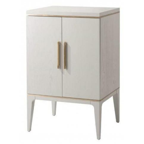 Rv Astley Tarim Pale Grey Wooden Cabinet