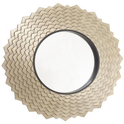 Rv Astley Vance Antique Brass Round Wall Mirror
