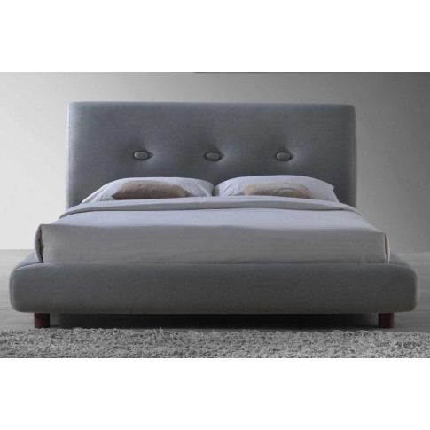 Sache 5ft Kingsize Grey Fabric Bed