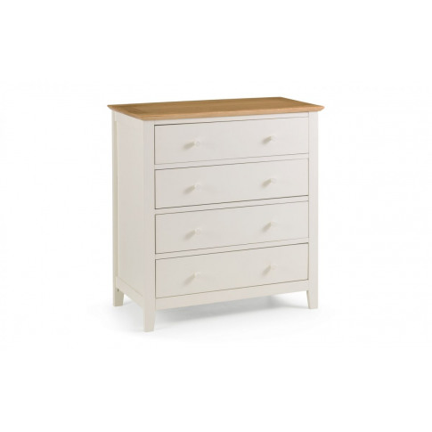 Julian Bowen Salerno Two Tone 4 Drawer Chest