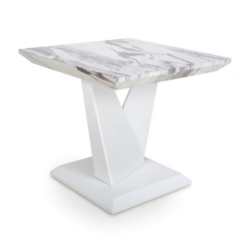 Saturn Marble Effect Top High Gloss Grey/White Lamp ...