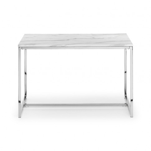 Julian Bowen Scala White Marble 120cm Rectangular Di...