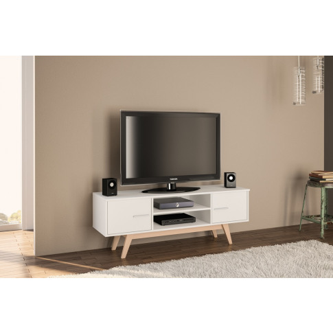 Shard White Wooden Tv Unit