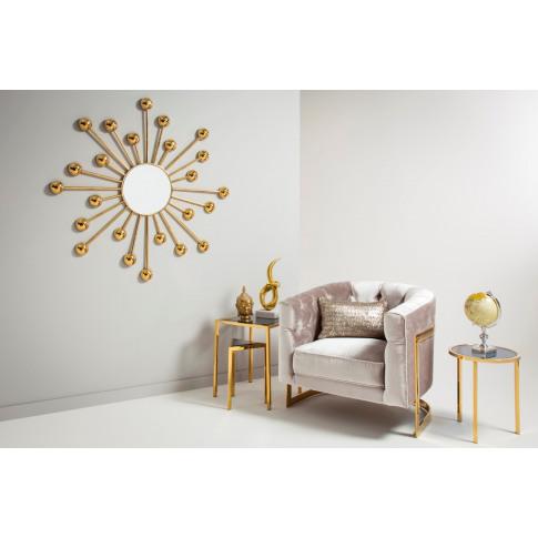 Silas Gold Frame Mirror